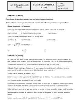 Exercice 1 (3 points)