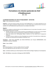 la mission pastorale du chef d`etablissement - initiation