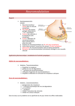 Application pharmaceutique : modulation de l