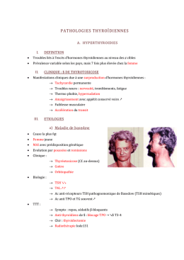 pathologies thyroïdiennes