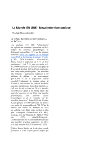 Le Monde ON LINE - Newsletter économique
