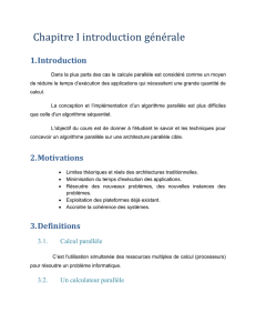Classification des architectures parallèles