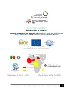 Rapport de mission - Afrique - Global Climate Change Alliance