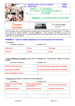 CH08.01 Communication Commerciale Cours Correction