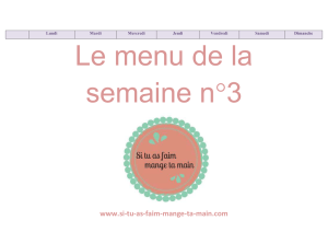 Le menu de la semaine 3 version Word