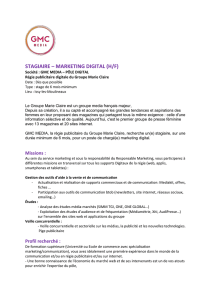 stagiaire – marketing digital (h/f)