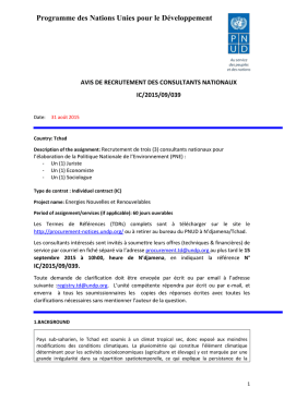 IC/2015/09/039 - UNDP | Procurement Notices