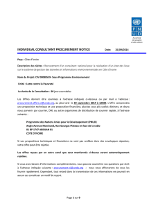 e - methodologie - UNDP | Procurement Notices