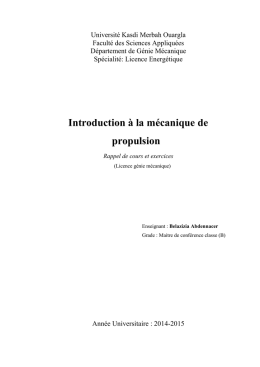 Introductionalamecaniquedepropulsion1 - Elearn
