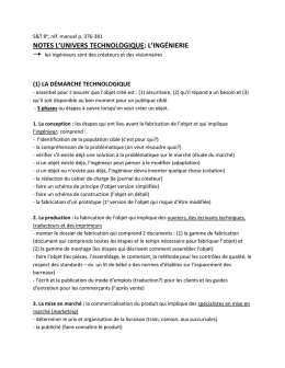 notes l`univers technologique
