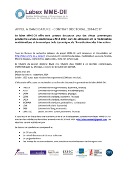 annonce allocation doctorale-2014 - Labex MME-DII