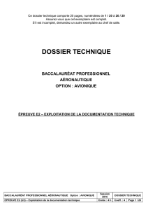 Dossier Technisue Bac Pro Aéronautique Option Avionique