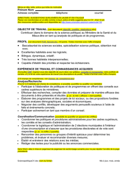 Exemple de CV en science politique