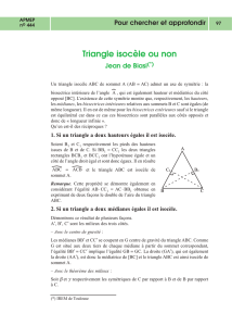 Triangle isocèle ou non