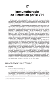 17 Immunothérapie de l`infection par le VIH