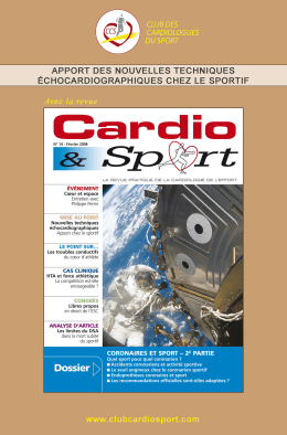 Mise au point - Club des Cardiologues du Sport