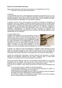 Bases de la documentation des plaies Introduction La