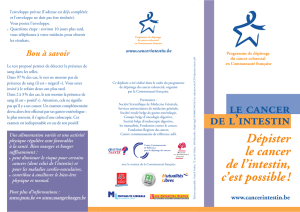 Dépister le cancer de l`intestin, c`est possible