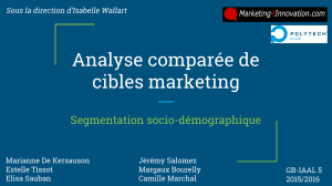 Analyse comparée de cibles marketing