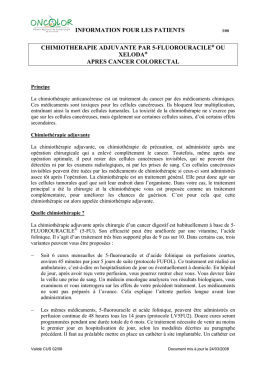 information pour les patients chimiotherapie adjuvante par