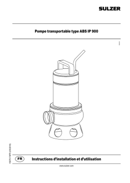 Pompe transportable type ABS IP 900 Instructions d