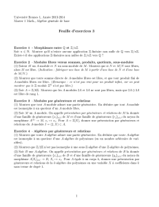 Feuille d`exercices 3