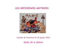 Les déficiences motrices - Académie de Nancy-Metz