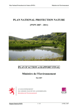 Plan National Protection de la Nature