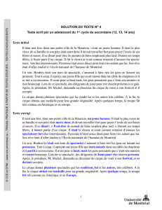 Solution du texte n o 4 en version