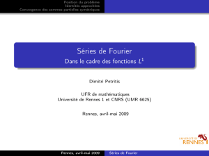 Séries de Fourier - Université de Rennes 1