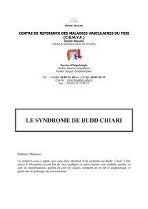 le syndrome de budd chiari - Association des Malades des