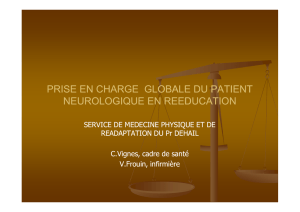 prise en charge globale du patient neurologique en reeducation