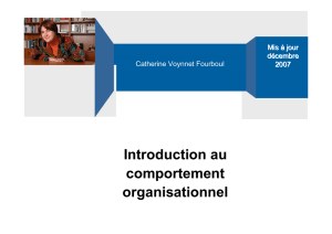 Introduction comportement organisationnel