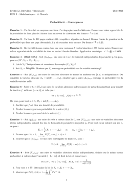 Convergences et approximations