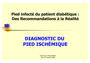 diagnostic du pied ischémique - Infectio