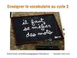 Enseigner le vocabulaire au cycle 2, Annick Vinot, 26