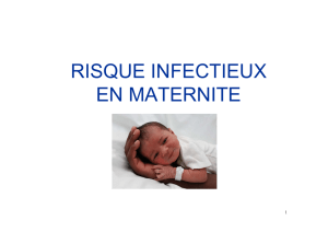 risque infectieux en maternite