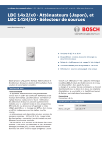 et LBC 1434/10 - Bosch Security Systems