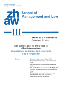 Atelier de la Concurrence Document de base