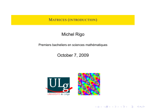 Matrices (introduction)