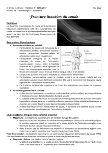 Fracture luxation du coude