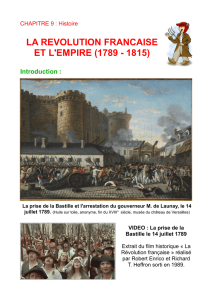 la revolution francaise et l`empire (1789 - 1815) - E