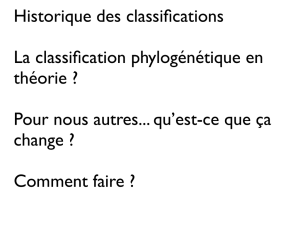 Histoire de la classification et la classification phylogénétique