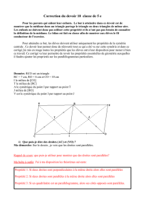 Correction du devoir 10 classe de 5 e