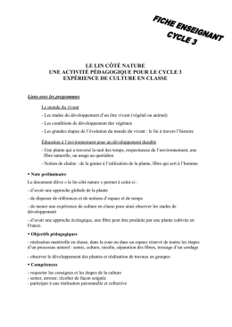 Fiche enseignant cycle 3