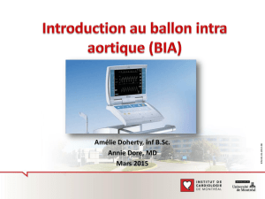 Introduction au ballon intra aortique