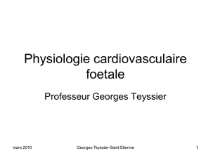Physiologie cardiovasculaire foetale