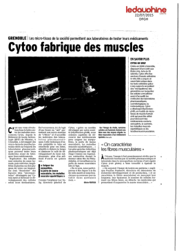 Cytoo fabrique des. muscles