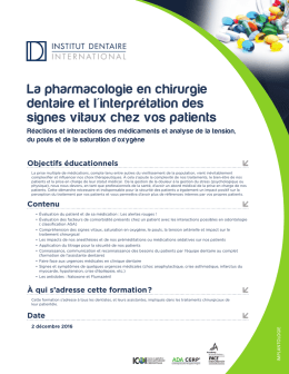 Télécharger le document  - Institut Dentaire International