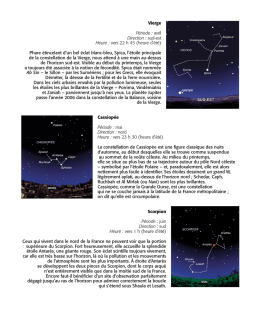 Trois constellations